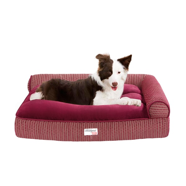 Simmons Beautyrest Right Angle Bolster Pet Bed