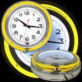 Trademark Games 14-inch Double Ring Neon Clock