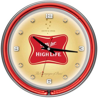 Miller High Life 14 Inch Neon Wall Clock