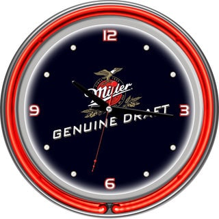 Miller Genuine Draft 14 Inch Neon Wall Clock