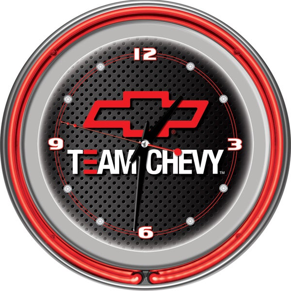 Team Chevy Racing 14 Inch Neon Clock