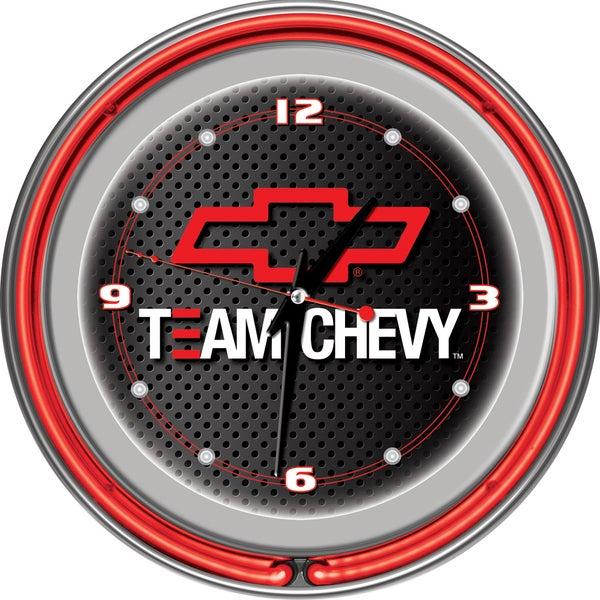 Team Chevy Racing 14 Inch Neon Clock