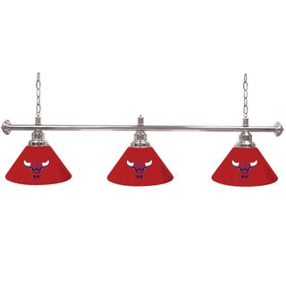 Chicago Bulls NBA 60-inch 3 Shade Billiard Lamp