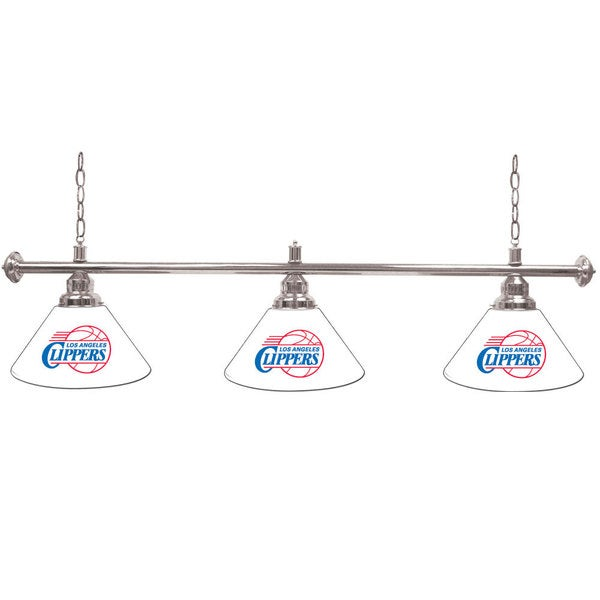 Los Angeles Clippers 60-inch NBA 3 Shade Billiard Lamp