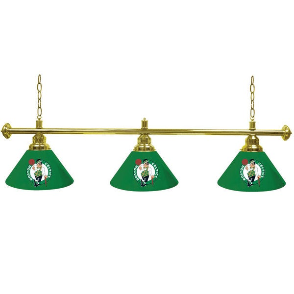 Boston Celtics 60-inch NBA 3 Shade Billiard Lamp