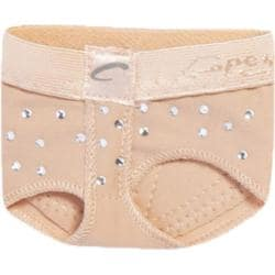 Children's Capezio Dance Rhinestone Footundeez Nude