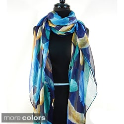 Falling Feathers Print Fashion Scarf/Beach Wrap