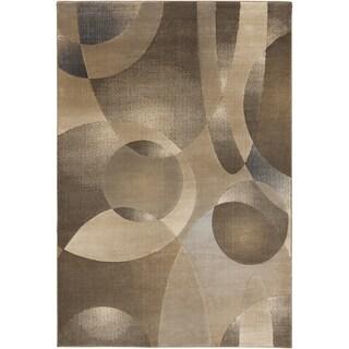 Tan Shapes Caramel Geometric Rug (7'9 x 10'6)