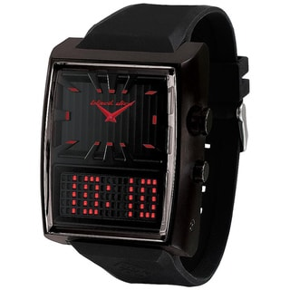 Black Dice Men's Duo Projekt Black Rubber Black Dial Quartz Watch