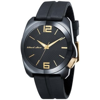 Black Dice Men's King Black Polyurethane Black Dial Quartz Watch