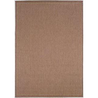 Recife Saddle Stitch Cocoa Rug (8'6 x 13')