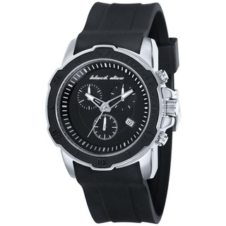 Black Dice Men's Vibe Black Silicone Blue Dial Quartz Watch
