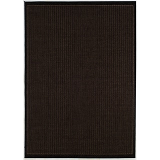 Recife Saddle Stitch Black Rug (7'6 x 10'9)