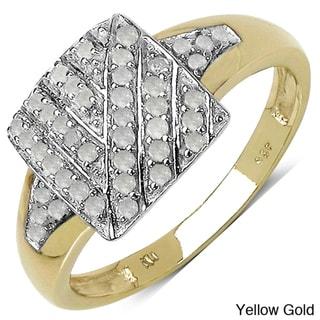 Malaika 14k Gold over Sterling Silver 1/4ct TDW Diamond Ring (I-J, I3)