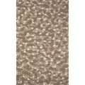 Stones Neutral Abstract Indoor Wool Rug (5'x8')
