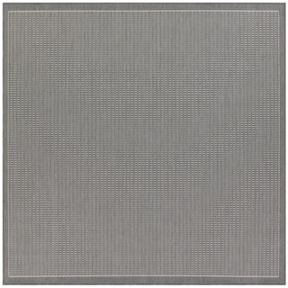 Recife Saddle Stitch Grey Rug (7'6 Square)