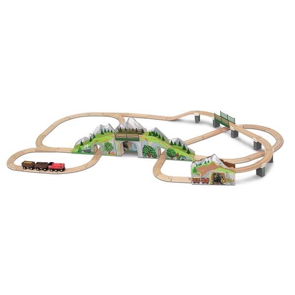 Melissa & Doug Mountain Tunnel Train Set