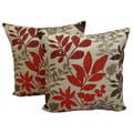 Bristol Chenille Jacquard 18x18-inch Throw Pillows (Set of 2)