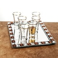 Crystal Clear Shot Glass and Tray Set