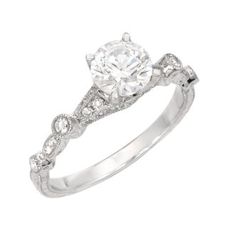 14k White Gold 1/5ct TDW Diamond Vintage-inspired Ring (G, SI1)
