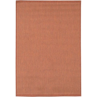 "Recife Saddle Stitch/ Terra Cotta Natural Runner (2'3"" x 11'9"")"