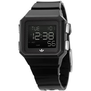 Adidas Men's Peachtree Black Polyurethane Digital Dial Quartz Watch