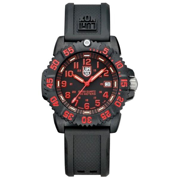 Luminox Men's Black/ Red Carbon-reinforced Watch