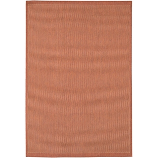 "Recife Saddle Stitch/ Terra Cotta Natural Rug (5'10"" x 9'2"")"