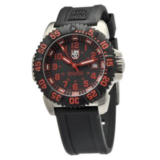 Luminox Men's 'Navy SEAL Colormark' Black/ Red Watch