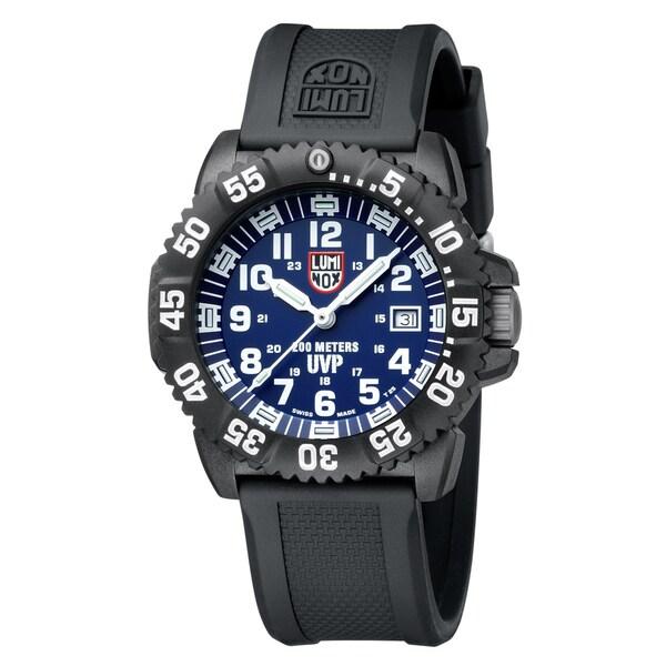 Luminox Men's 'Evo' Navy SEAL Colormark Black/ Blue Watch