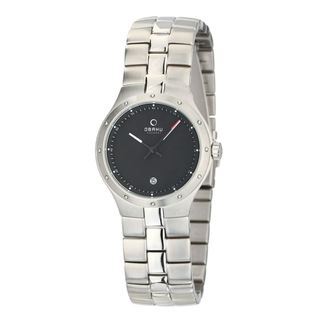 Obaku Men's Stainless Steel Black Dial Quartz Watch