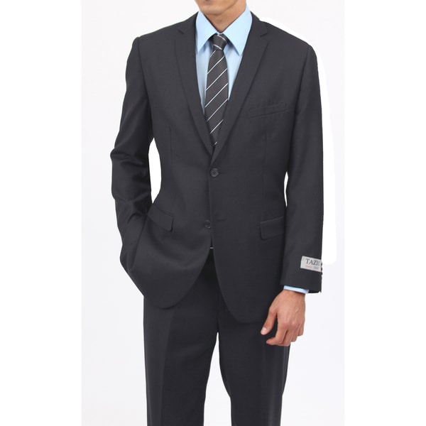 Tazio Men's Slim Fit Charcoal 2-button Suit