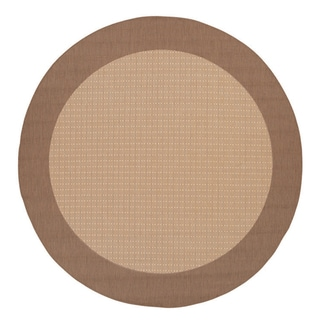 Recife Natural Cocoa Checkered Rug (7'6 Round)