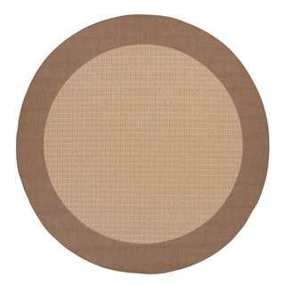 Recife Natural Cocoa Checkered Rug (8'6 Round)