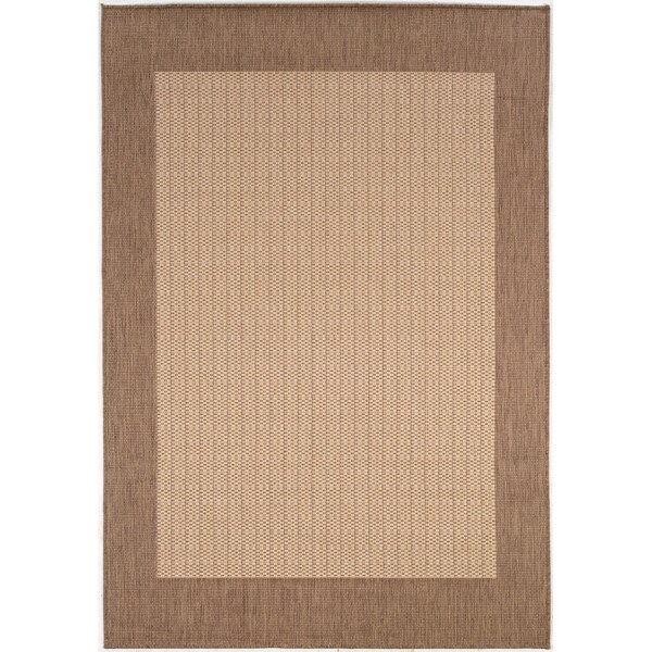 "Recife Checkered Field/Natural-Cocoa 8'6"" x 13' Rug"