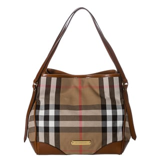Burberry 'Bridle' Small House Check Tote Bag