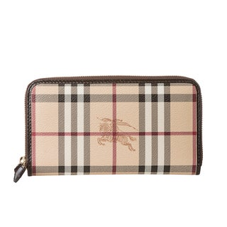 Burberry 'Ziggy' Large Haymarket Zip-Around Wallet