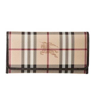 Burberry Haymarket Winsley Continental Wallet