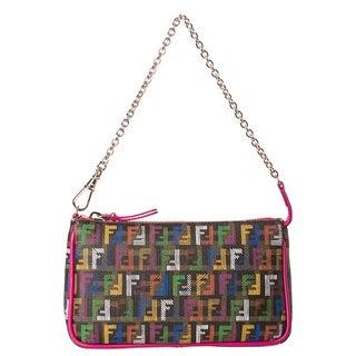 Fendi 'Forever-Techno' Zuccino Pouchette Bag
