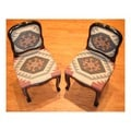Handmade Kilim Upholstered Side Chairs (Set of 2)