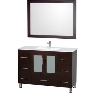 Wyndham Collection 'Kathy' 48-inch Espresso/ White Top Vanity Set