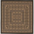 Couristan Recife Tamworth Cocoa and Black Rug (7' x 6')
