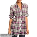 Stanzino Women's Plaid Button-down Tunic