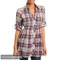 Stanzino Women&#39;s Plaid Button-down Tunic