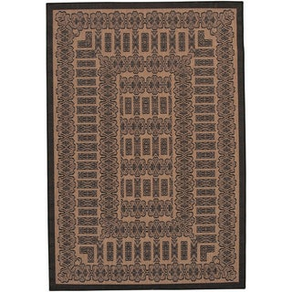 Couristan Recife Tamworth Cocoa and Black Rug (2' x 3'7)