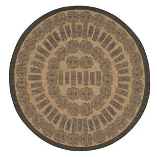 Recife Tamworth Cocoa and Black Rug (7' x 6' Round)