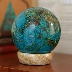 Chrysocolla 'Serenity' Sphere (Peru)