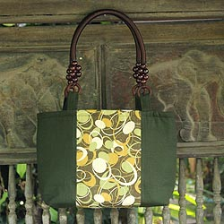 Cotton 'Forest Universe' Shoulder Bag (Thailand)