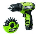 Rockwell 12V LithiumTech Drill with Two Batteries and 16-piece Bit Set Puck