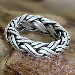 Sterling Silver Men's 'Gallant' Ring (Indonesia)